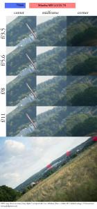 Minolta MD 35-70mm f/3.5 70mm sharpness test