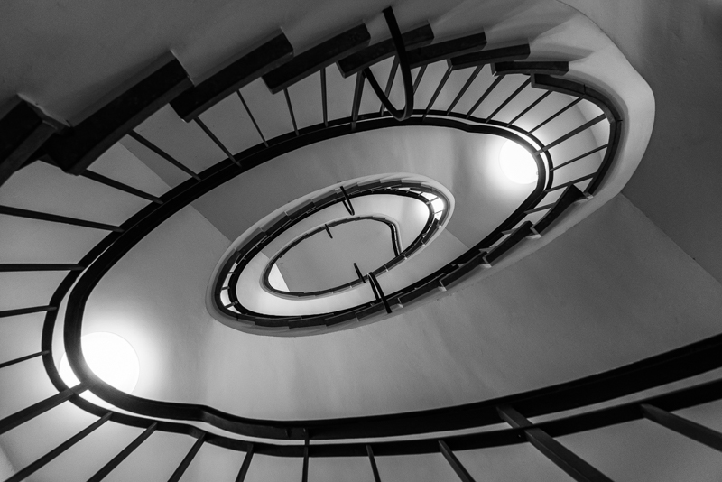 abstract black and white b/w stairs ultron 28mm 2.0
