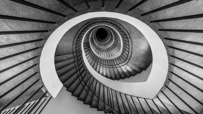 munich deutsches museum spiral treppe treppenaugen stair stairs