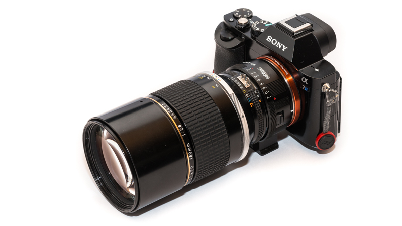 Sony A7s with Metabones Nikon G -> Sony E Adapter and Nikon AI-s 180mm 2.8 ED