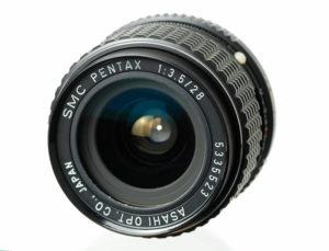 Pentax SMC 3.5/28 K front
