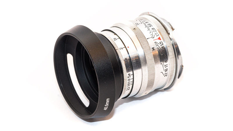 "Jupiter-3 50mm 1.5 with ""Leica style"" third party lens hood"
