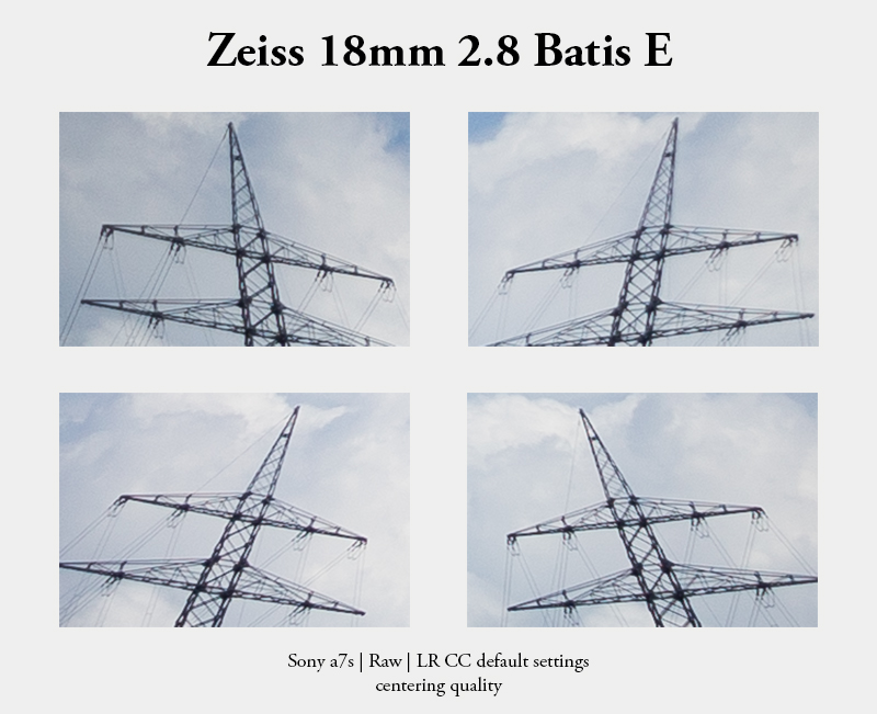 batis 18mm 2.8 zeiss e mount a7 center centering quality decentering dezentriert