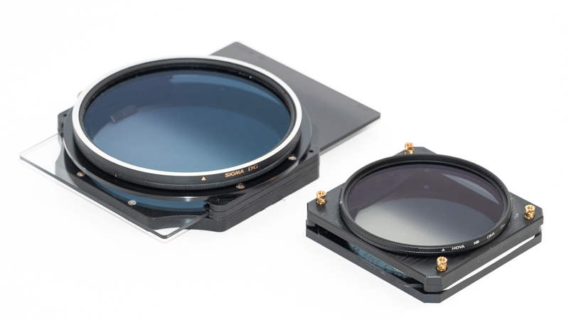 Lee 100mm Filter Holder with GND and 105mm Polarizer and Hitech 67mm Filter Holder with GND and 77mm Polarizer