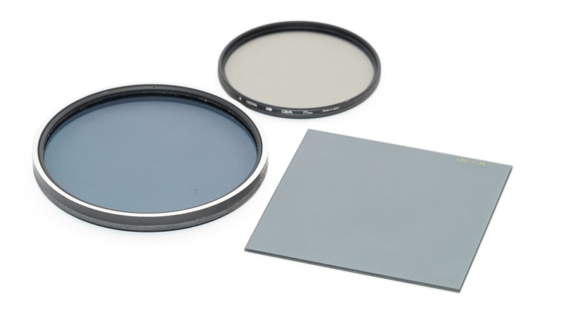 105mm Lee Polarizer, 77mm Hoya HD Polarizer. 100mm Lee Polarizer
