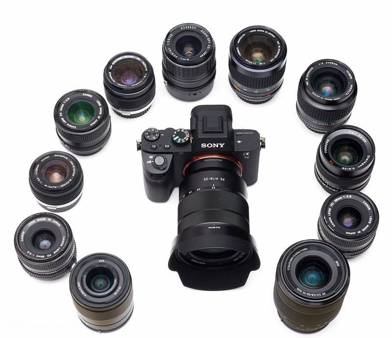 Wide-angle lenses Sony a7 ii