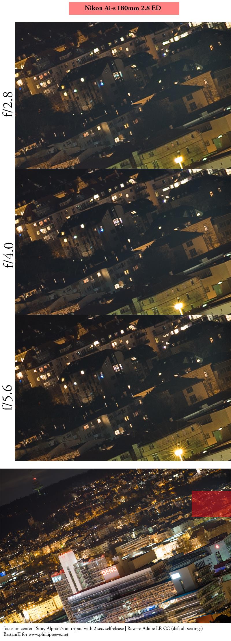 nikon nikkor manual focus ed 180mm ai ais ai-s tele lens fast sony a7r a7 a7ii a7s a7rii mark 2 coma star stars astro astrophotography