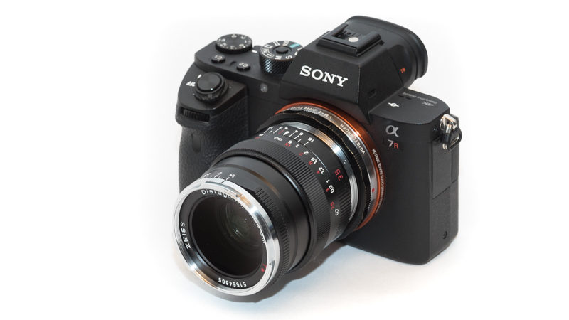 zeiss distagon 35mm 1.5 zm t* adapter leica m a7rII a7r a7s a7 sony review