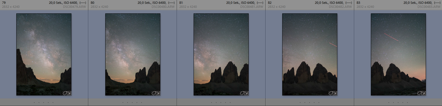 astrophotography improve panorama sony a7 natural night didymium filter stacking exposure tracker guided guiding